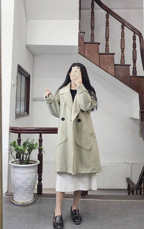 Áo khoác dạ dáng xoè cho nàng thêm nữ tính lại ấm áp - Hình 4