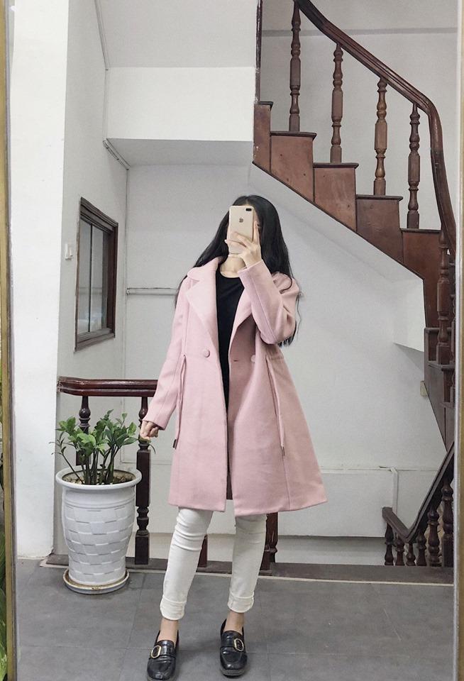 Áo khoác dạ dáng xoè cho nàng thêm nữ tính lại ấm áp - Hình 3