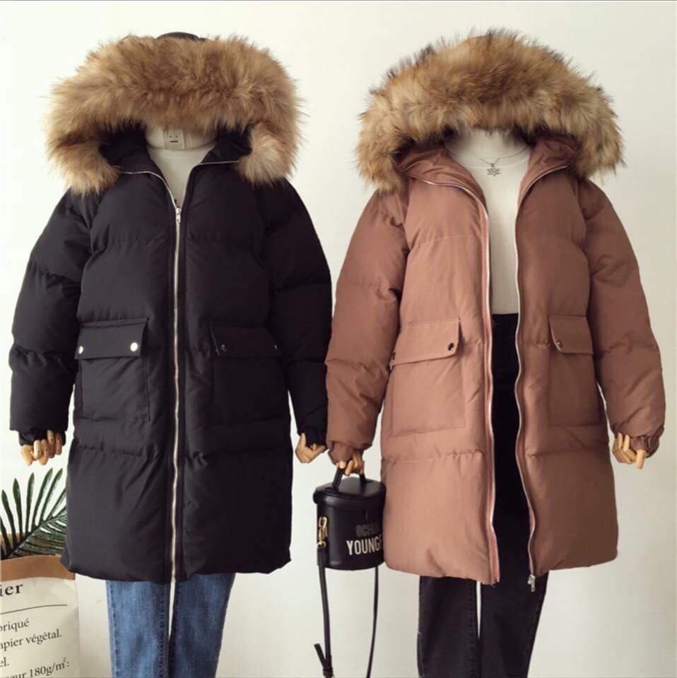 Áo khoác phao mũ lông - cho các nàng vừa năng động lại ấm áp - Hình 1