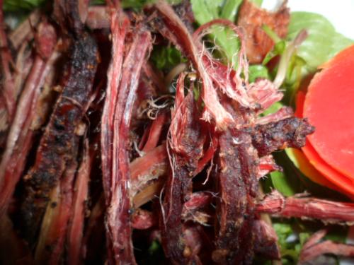 Đặc sản núi rừng Tây Bắc thịt trâu gác bếp - Hình 1