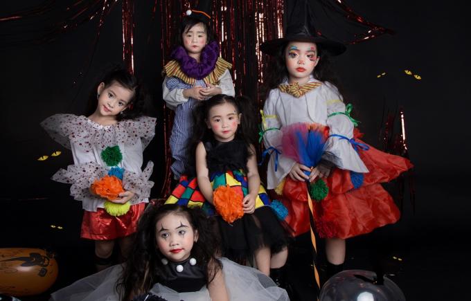Mẫu nhí diện thời trang Halloween màu sắc - Hình 11