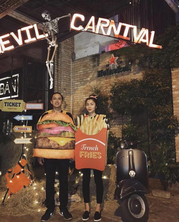 Vợ chồng Hà Tăng lại gây sốt với màn hóa trang Halloween cực dễ thương: Cặp đôi máu lửa nhất mỗi dịp lễ hội là đây! - Hình 4