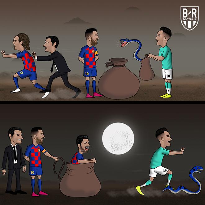 Ảnh chế Suarez cứu rỗi Barca HOT nhất vòng 2 cúp C1 - Hình 1