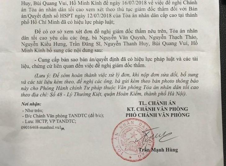 Tòa án tối cao có công văn về vụ tử tù Đặng Văn Hiến - Hình 2