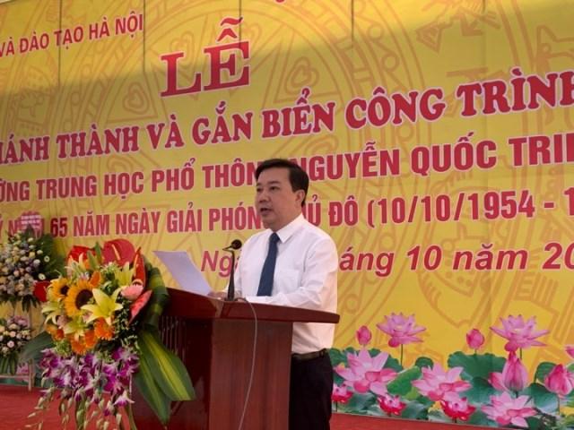 Gắn biển công trình trường THPT Nguyễn Quốc Trinh - Hình 2