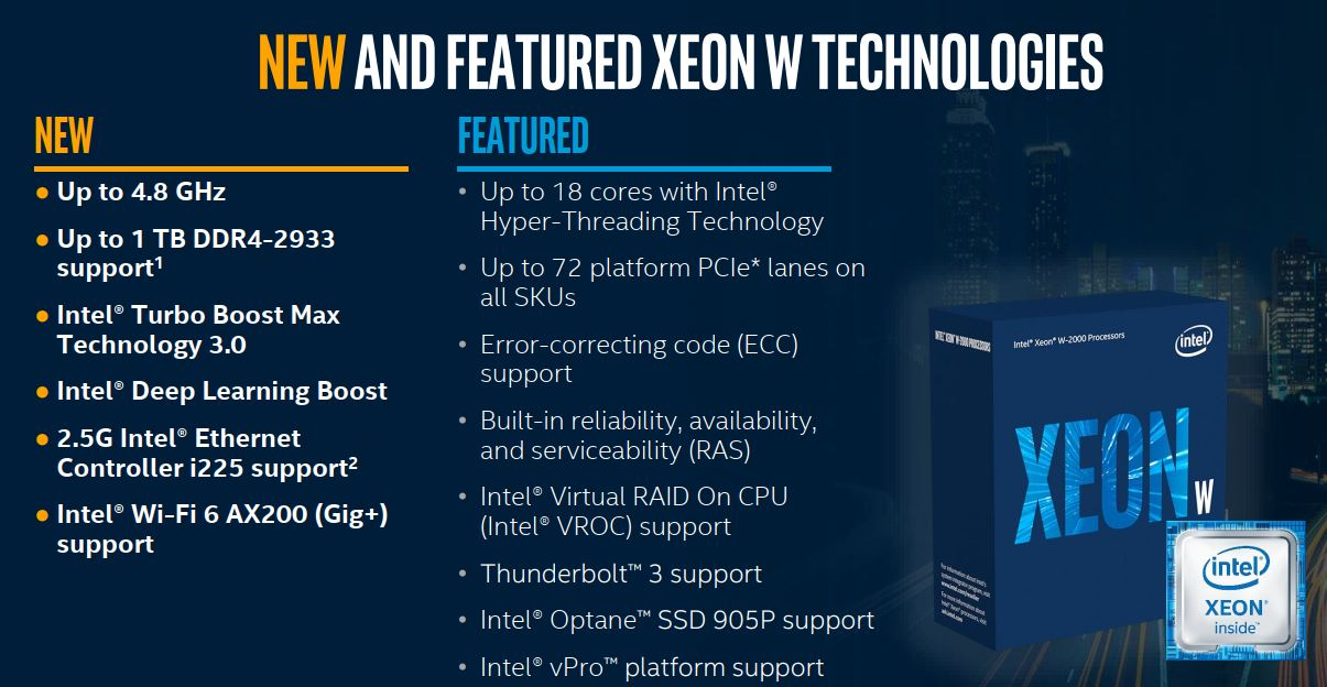Intel tiếp tục trình làng vi xử lý Xeon W và X-series thế hệ mới: cải thiện đáng kể hiệu năng AI, giá thấp hơn một nửa đời trước - Hình 3