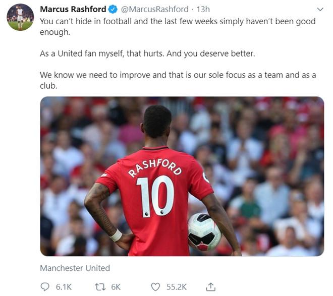 Marcus Rashford đau đớn vì thành tích không tốt của MU - Hình 1