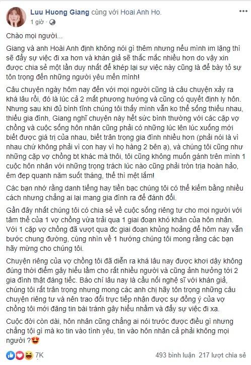 Tóc Tiên, Đông Nhi cùng dàn sao Việt gửi lời động viên, tin tưởng vợ chồng Lưu Hương Giang trước tâm bão - Hình 2