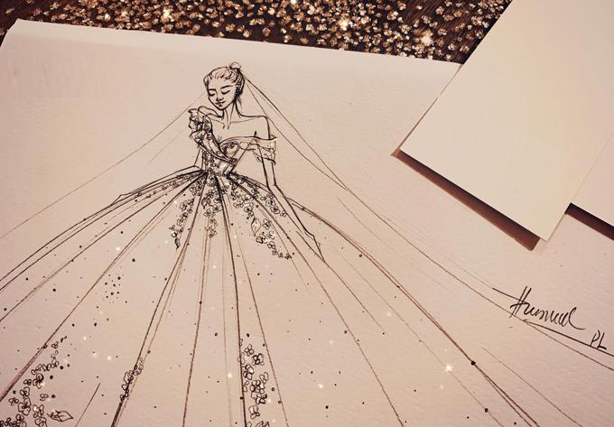 Váy cưới lấy cảm hứng từ đóa Calla nở rộ - Hình 1