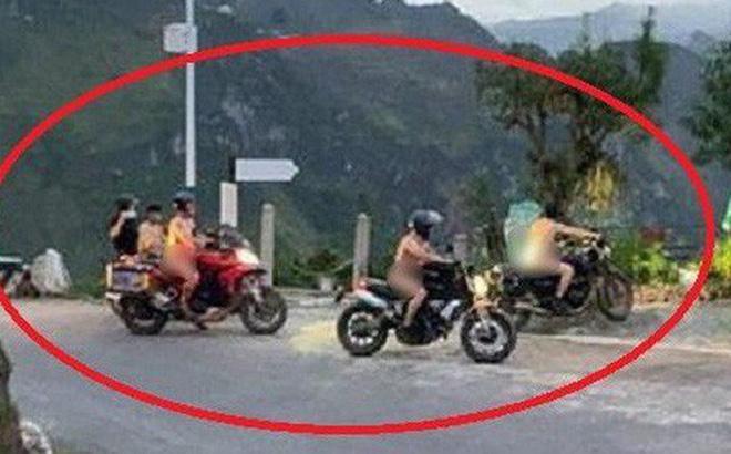 Nhóm khách khỏa thân đi motor trên đèo Mã Pì Lèng bị chỉ trích dữ dội: Chính quyền lên tiếng - Hình 1