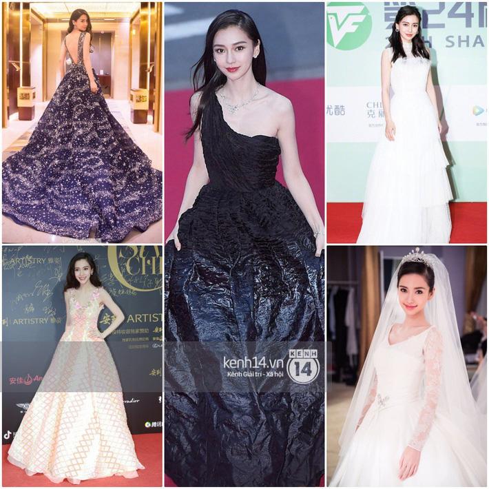 So sánh số lần Tiểu Hoa Đán diện đồ Haute Couture đi sự kiện: Angela Baby vô địch với 26 lần trong khi Dương Mịch mới được mặc 2 lần - Hình 1