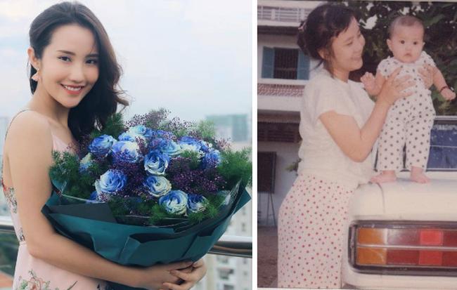 Tình cũ Phan Thành khoe tấm ảnh thời bé chụp cùng mẹ, nhưng nhan sắc của đấng sinh thành mới chính là điều gây bất ngờ - Hình 1