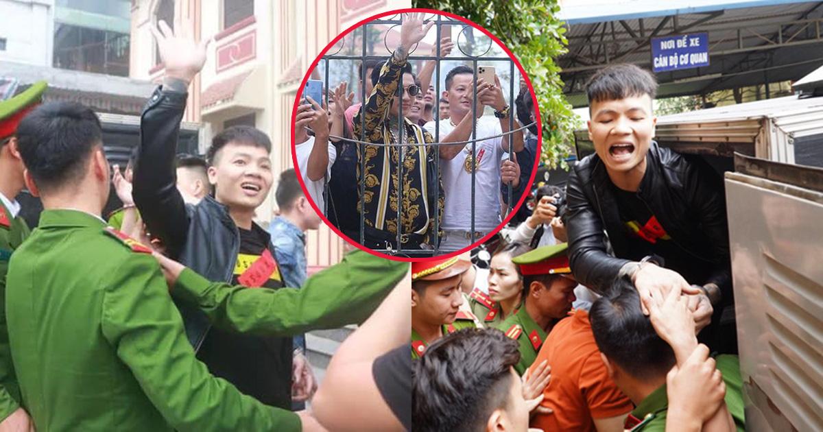 Bị tuyên phạt gần 11 năm tù, Khá Bảnh vẫn vui vẻ động viên anh em xã hội trước khi lên xe thùng: Đi 10 năm thôi mà, có gì đâu - Hình 1