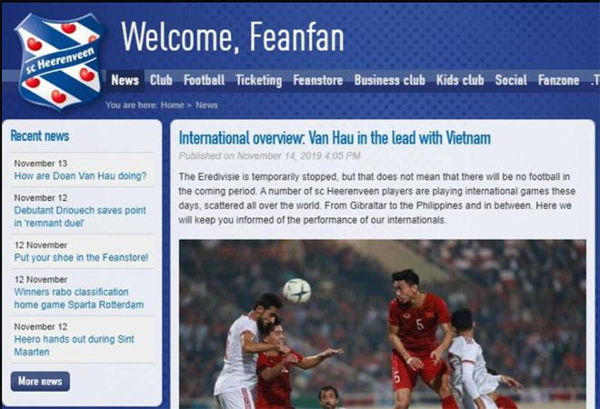 Báo Hà Lan khen Văn Hậu và ĐT Việt Nam: Cơ hội đá đội 1 Heerenveen lại rộng mở - Hình 2
