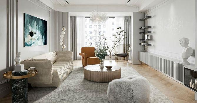Ngắm căn hộ mang nét đẹp cổ điển Pháp thời hiện đại - Hình 1