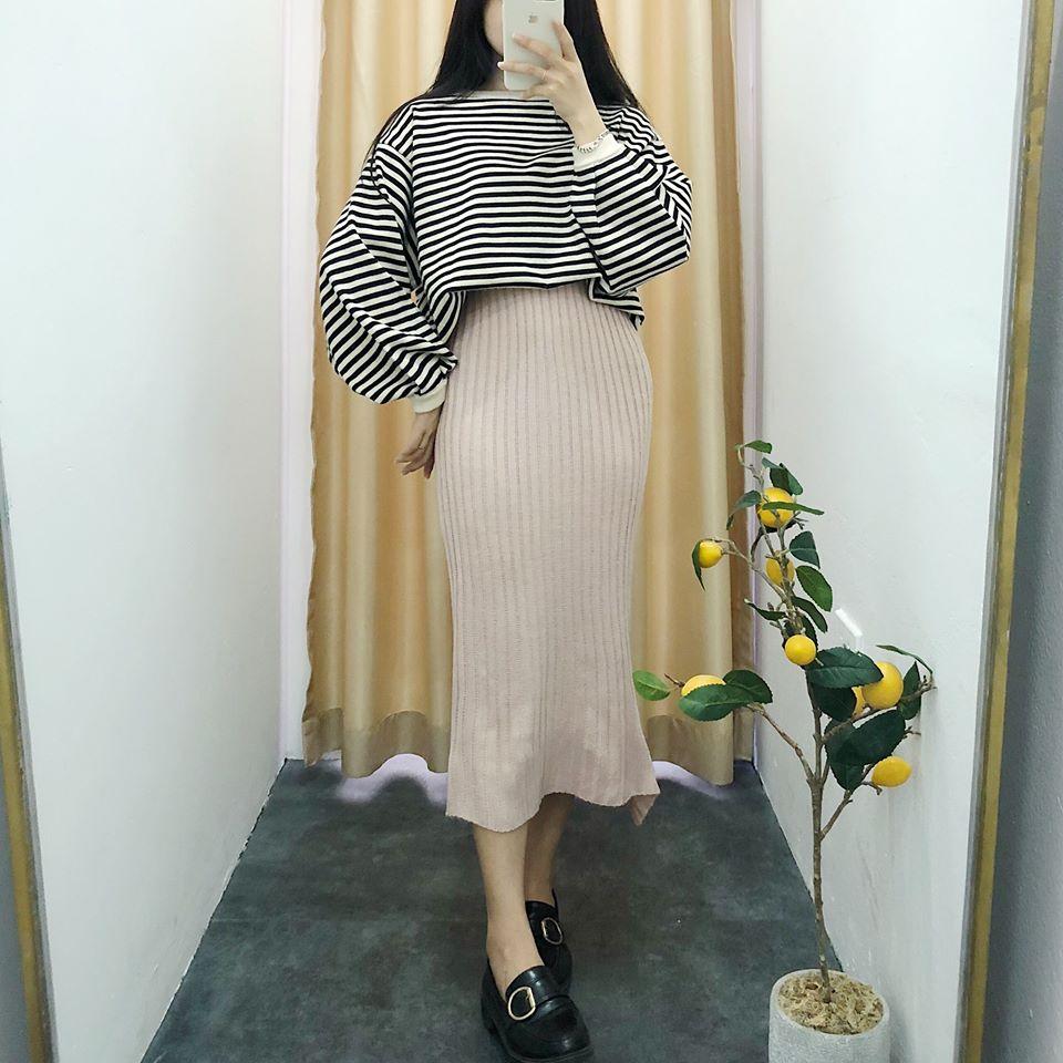Váy len dáng dài cho nàng tha hồ thả dáng siêu ngọt ngào - Hình 1