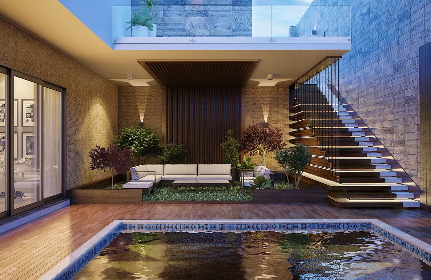Ngôi nhà phố sở hữu hồ bơi tuyệt đẹp nằm ngay trong nhà - Hình 1