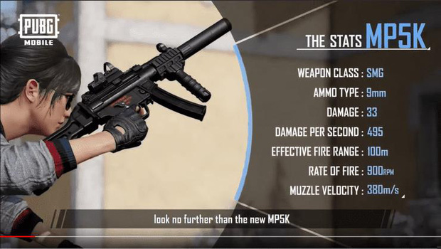 PUBG Mobile: Đây là mọi thông tin bạn cần biết về khẩu MP5-K và ông hoàng đường tuyết Zima - Hình 1