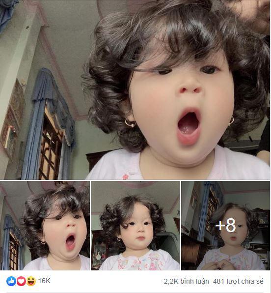 Em bé sở hữu mái tóc xoăn bồng bềnh, dân mạng vừa nhìn đã gọi là siêu phẩm, muốn sinh ngay 1 cô công chúa - Hình 1