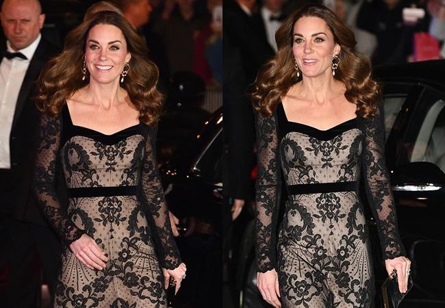 Mặc váy ren khoe tấm lưng trần đầy táo bạo, Công nương Kate khiến chồng chủ động yêu chiều, làm cộng đồng mạng điêu đứng - Hình 2