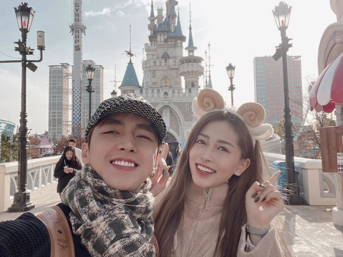 Phương Nga tình tứ cùng bạn trai Bình An đón sinh nhật tuổi 21 ngọt ngào tại Hàn Quốc - Hình 1