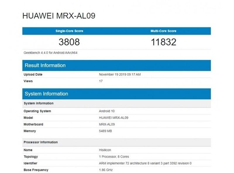 Huawei MatePad Pro dùng chip Kirin 990 vừa lộ điểm sức mạnh trên Geekbench - Hình 1
