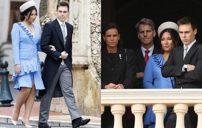 Nàng dâu hoàng gia gốc Việt lần đầu xuất hiện cùng gia đình nhà chồng Monaco: Ăn mặc gợi cảm nhưng có phần lạc lõng - Hình 1