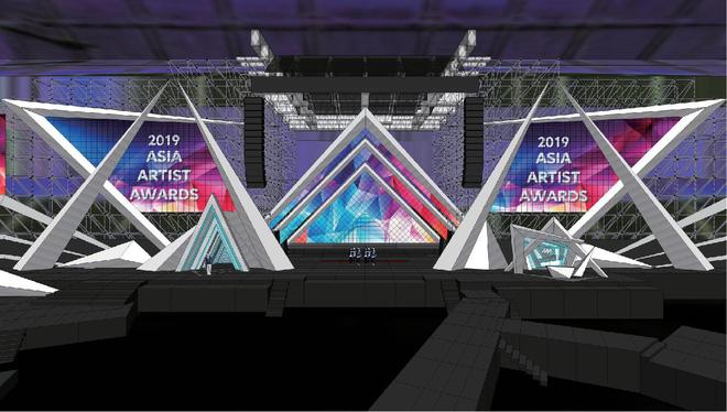 Sân khấu lễ trao giải AAA 2019 hội tụ TWICE, Yoona và quân đoàn sao Hàn ở SVĐ Mỹ Đình bắt đầu xây dựng: Sao khủng thế này? - Hình 2