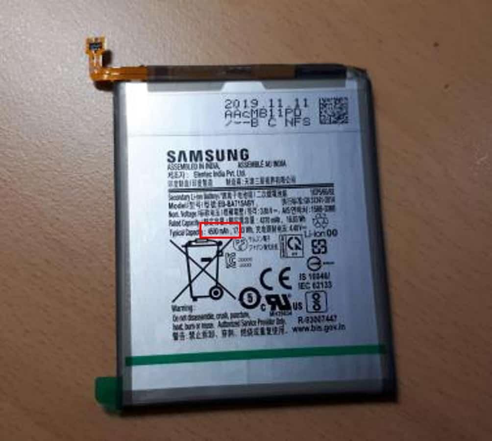 Galaxy A71 được xác nhận sẽ có dung lượng pin 4.500 mAh - Hình 1