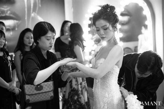 Lệ Quyên bất ngờ trình diễn thời trang tại show thời trang áo cưới L'amant - Hình 1