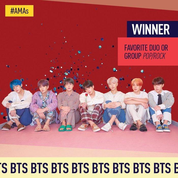 AMAs 2019: BTS chiến thắng giải thưởng đầu tiên, Halsey nhận giải không quên cảm ơn người hâm mộ - Hình 1