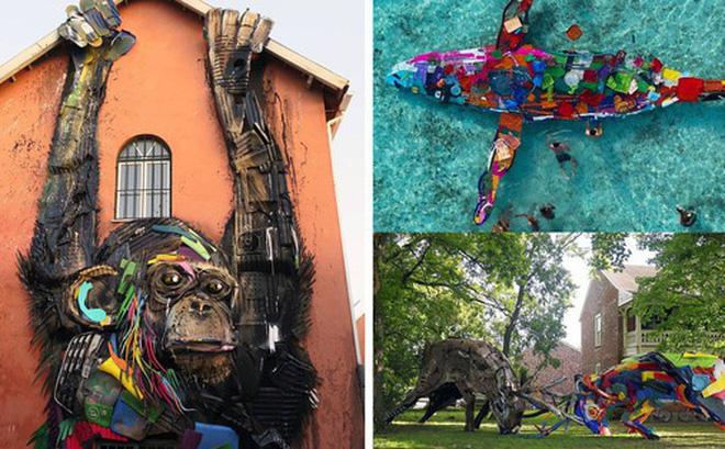 Những tác phẩm nghệ thuật tuyệt mỹ được tạo ra từ rác thải khiến ai xem xong cũng phải trầm trồ và suy ngẫm - Hình 1