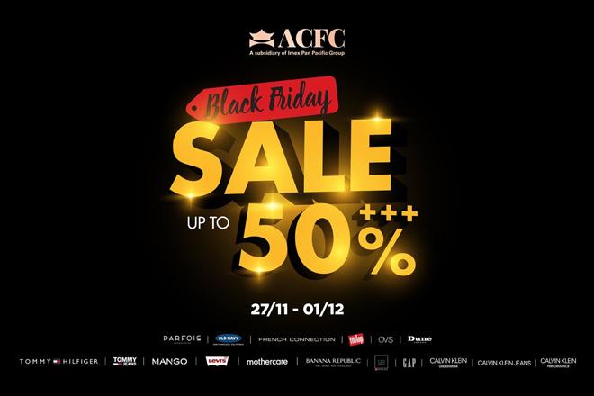 Điểm danh các thương hiệu khủng giảm giá mạnh dịp ACFC Black Friday - Hình 1