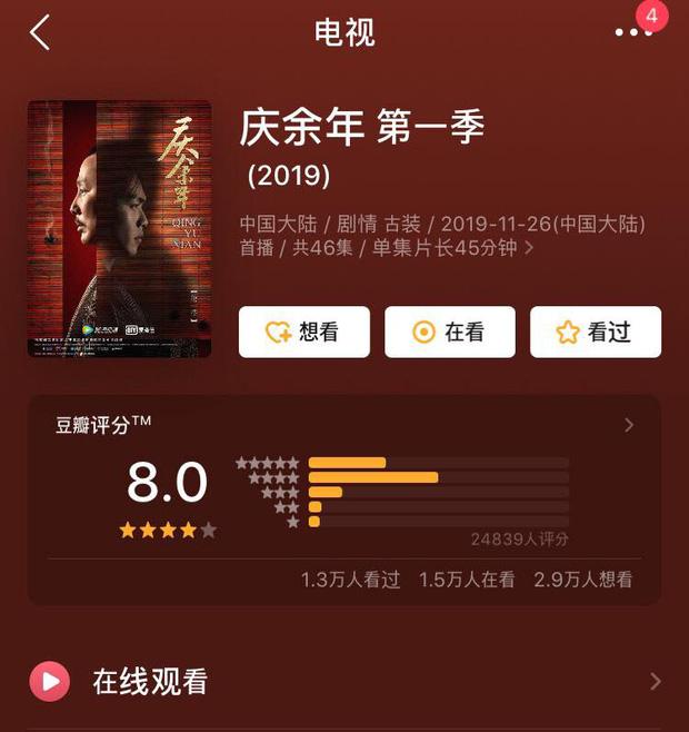 Bom tấn truyền hình cuối năm gọi tên Khánh Dư Niên với điểm đánh giá được netizen chấm cao chót vót - Hình 1
