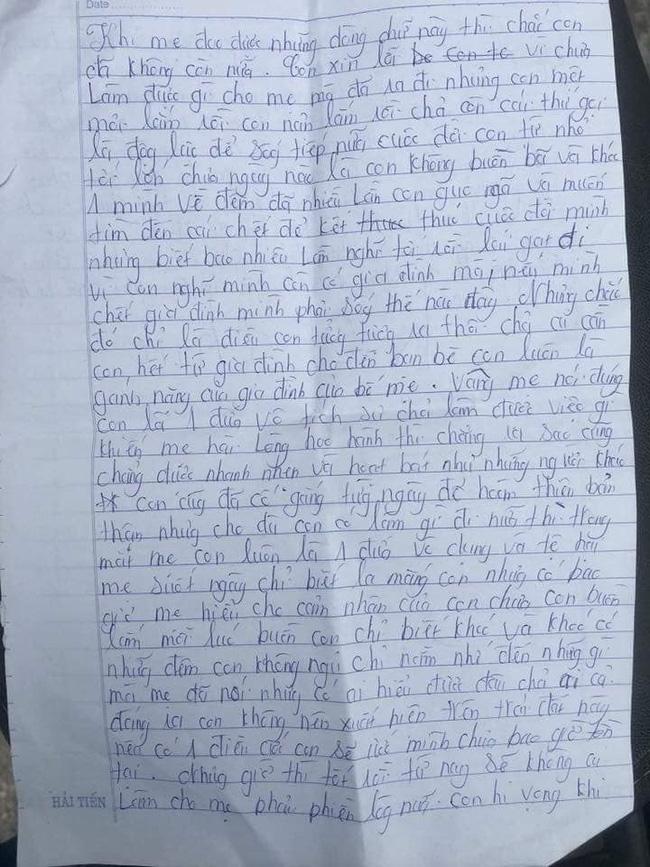 Xót xa những dòng thư cuối cùng cô bé 16 tuổi để lại cho bố mẹ trước khi nhảy cầu tự tử: Nếu có 1 điều ước con sẽ ước mình chưa bao giờ tồn tại - Hình 2