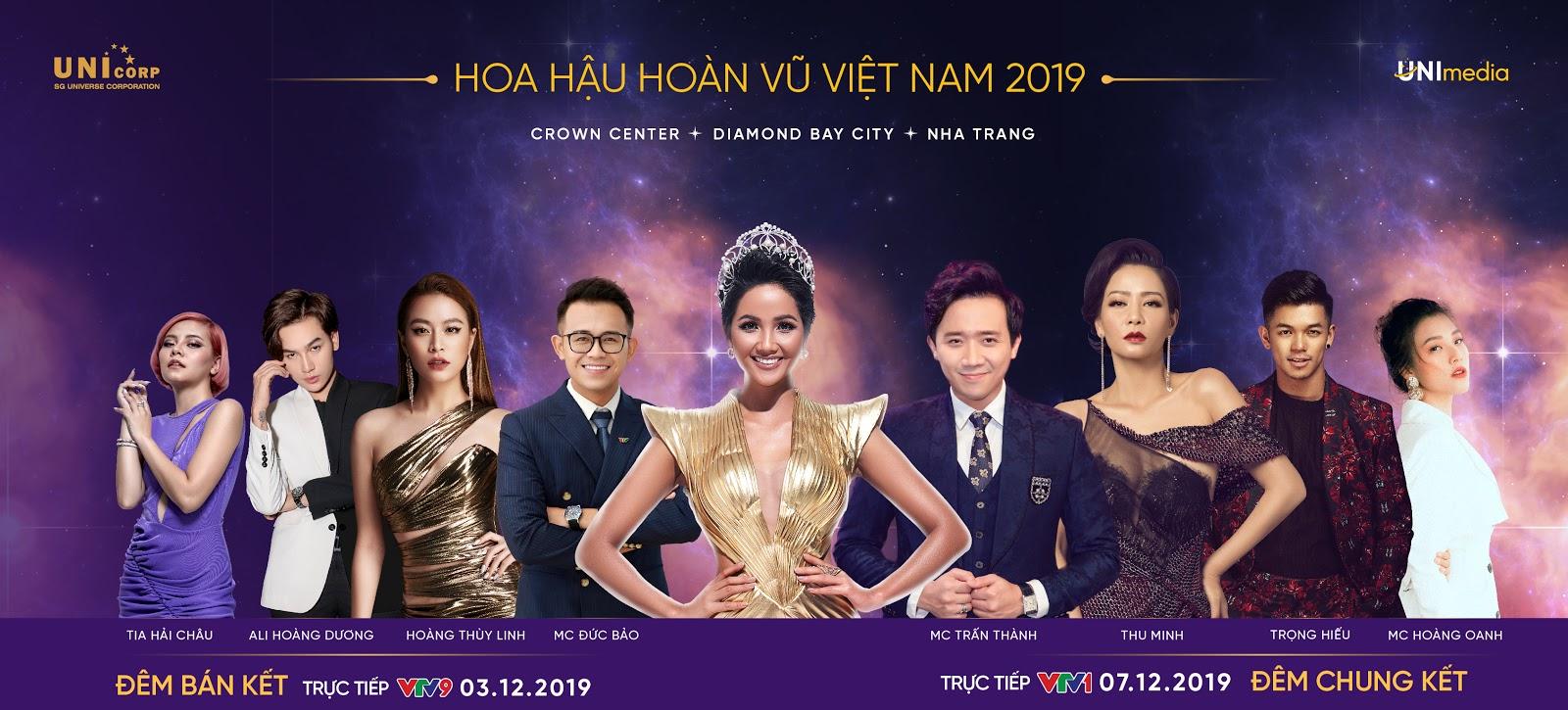 Công bố nghệ sĩ, MC Bán kết và Chung kết Hoa hậu Hoàn vũ Việt Nam 2019, bất ngờ nhất là HHen Niê - Hình 1
