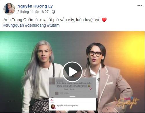 Hương Ly đã hết dỗi sau khi Nguyễn Trần Trung Quân lên tiếng giải thích về cái tim nhỡ tay? - Hình 1