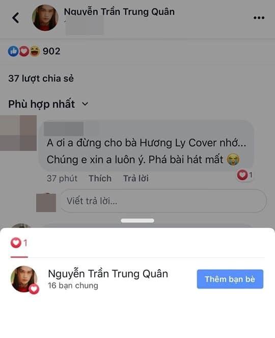 Hương Ly đã hết dỗi sau khi Nguyễn Trần Trung Quân lên tiếng giải thích về cái tim nhỡ tay? - Hình 2