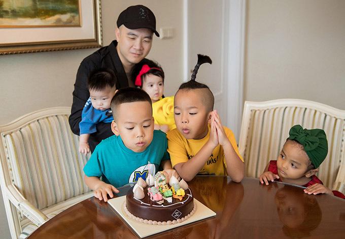 Đỗ Mạnh Cường mừng con trai nuôi 6 tuổi - Hình 2
