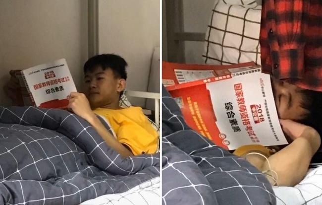 Nam sinh thiếu nghị lực nhất năm: Khẳng định hùng hồn lên giường nằm học cho ấm, 5 phút sau quay ra đã thấy ngủ khò khò - Hình 1