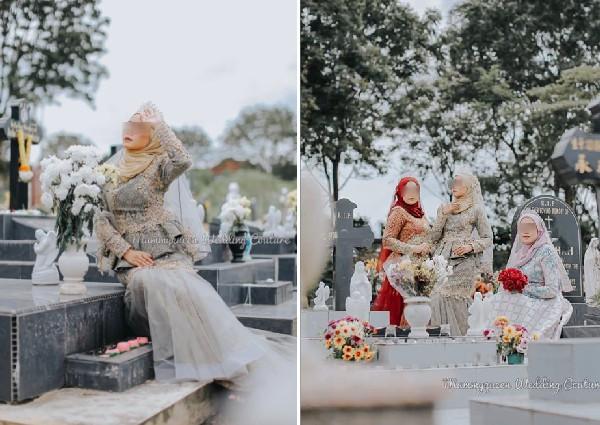 Người mẫu váy cưới Malaysia bị chỉ trích vì chụp ảnh ở nghĩa trang - Hình 2