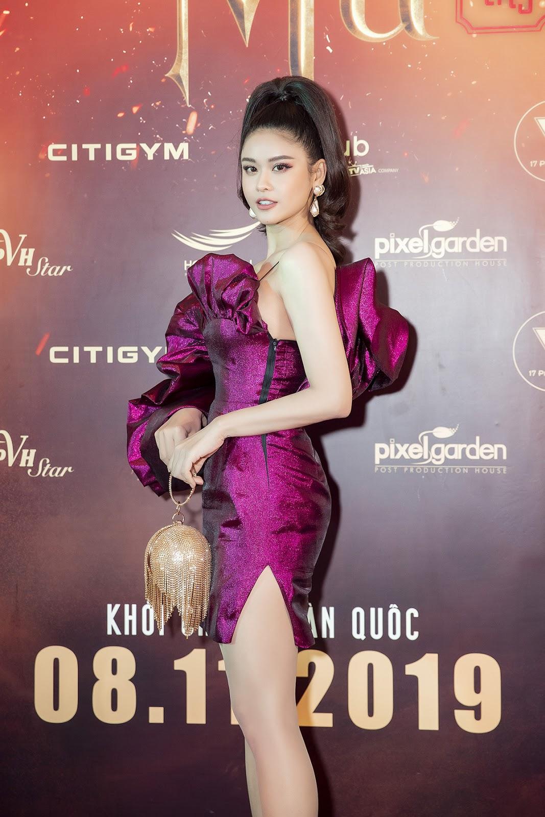 Trương Quỳnh Anh diện trang phục siêu ấn tượng chiếm hết spotlight thảm đỏ mừng Huỳnh Lập ra mắt phim - Hình 2