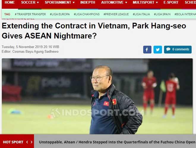 Báo Indonesia lo vì thầy Park gia hạn, ví như cơn ác mộng cho Đông Nam Á - Hình 1