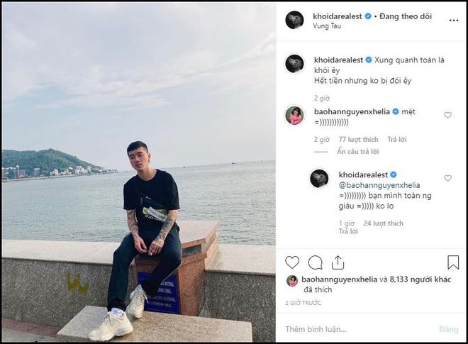 Rapper Khói và Bảo Hân vẫn tương tác nhiệt tình trên Instagram sau khi tuyên bố chia tay: Không yêu vẫn làm bạn là có thật? - Hình 2
