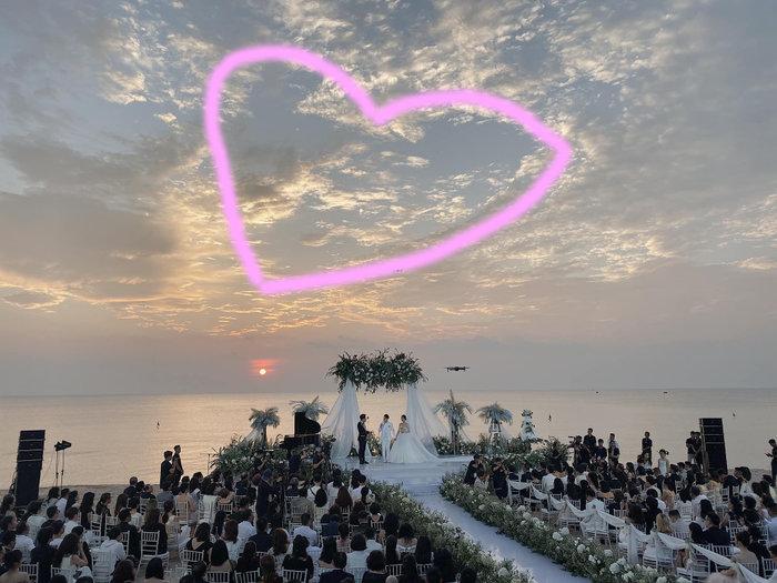Điều kỳ diệu trong đám cưới Đông Nhi - Ông Cao Thắng: Đám mây cũng hóa hình trái tim để chúc phúc - Hình 2