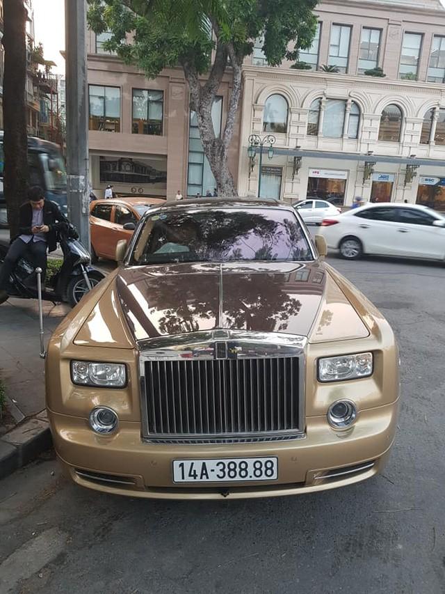 Rolls-Royce Phantom màu độc, biển tứ quý 8 của đại gia Quảng Ninh bất ngờ xuất hiện tại Hà Nội - Hình 1