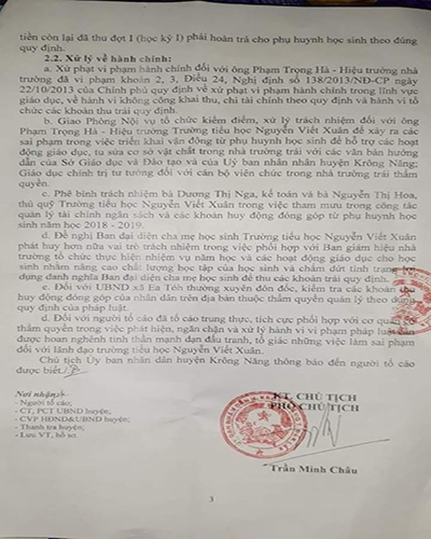 Trường Nguyễn Viết Xuân vận động phụ huynh đóng hơn 80 triệu dịp 20/11 - Hình 2