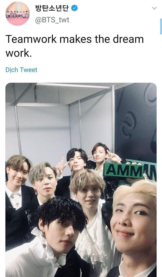 Chả sợ bị chê 'nghèo từ', tweet đầu tiên BTS đăng tải sau khi càn quét cả 4 Daesang tại MMA 2019 lại là một câu không-thể-quen-thuộc-hơn - Hình 2