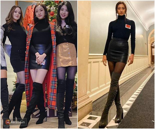 Dự Miss World, Lương Thùy Linh thường xuyên diện lại đồ cũ, trái ngược hẳn với cách chơi lớn của Hoàng Thùy tại Miss Universe - Hình 1