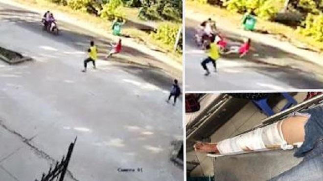 Bị truy bắt, kẻ trộm tông thẳng xe vào phó trưởng công an xã - Hình 1